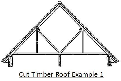 Cut Timber Roof Example 1