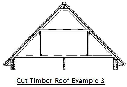 Cut Timber Roof Example 3