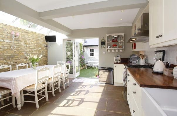 15 terraced house kitchen extension ideas. Black Bedroom Furniture Sets. Home Design Ideas