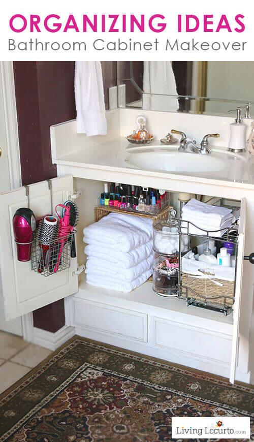 16 org tips - Bathroom-Cabinet-Organization-Makeover 15