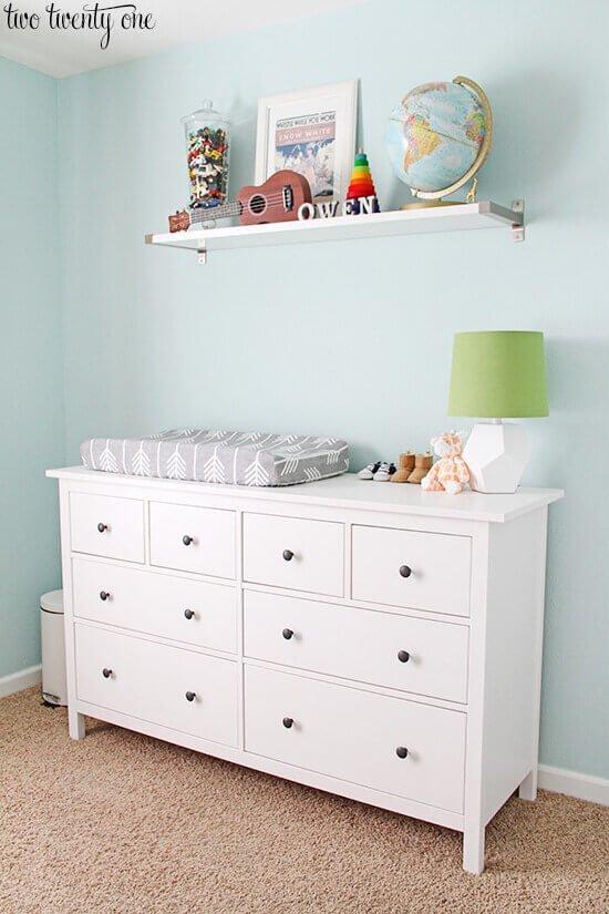 16 org tips - ikea-dresser-nursery 01