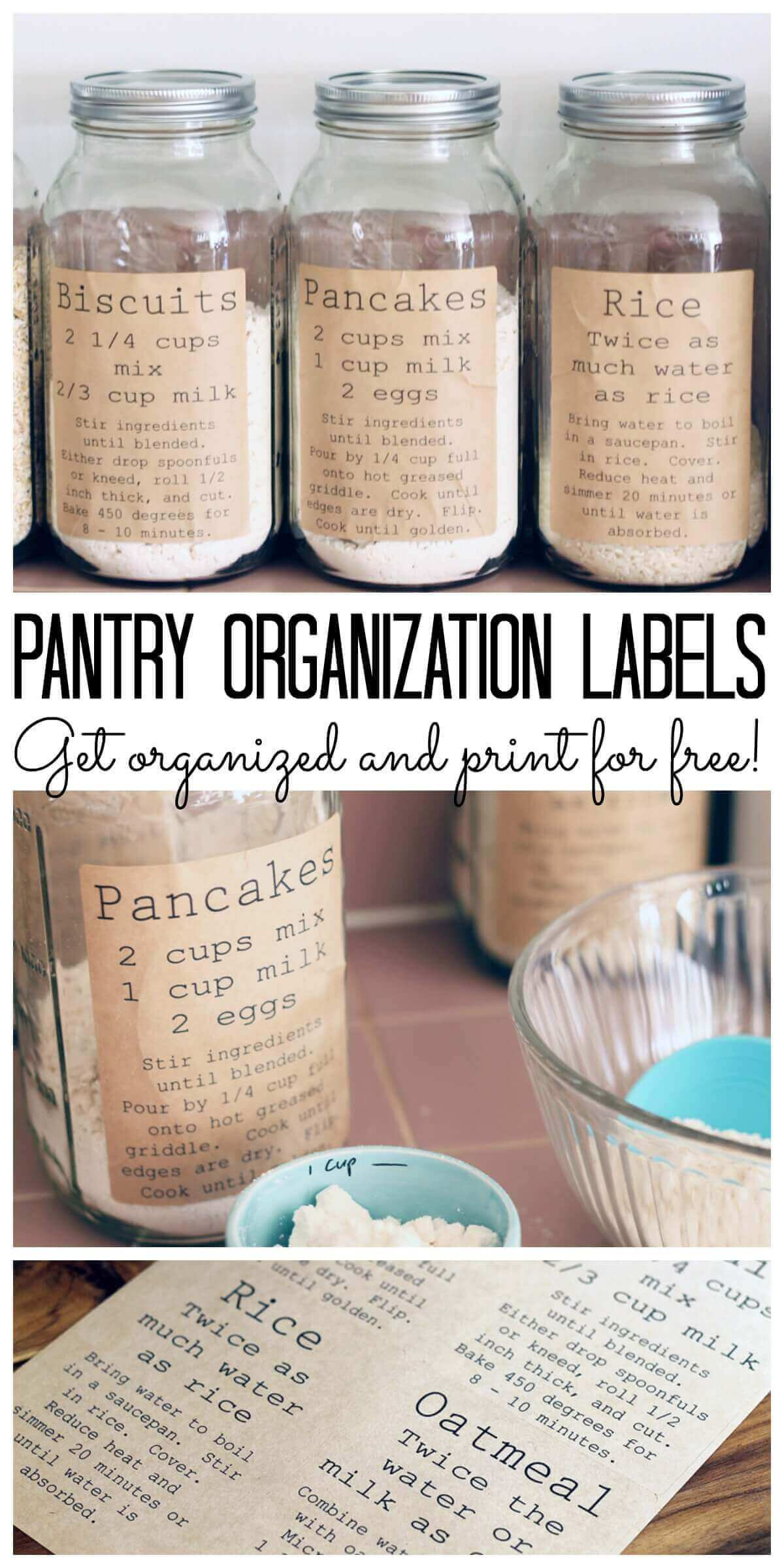16 org tips - pantry-organization-labels-collage 06